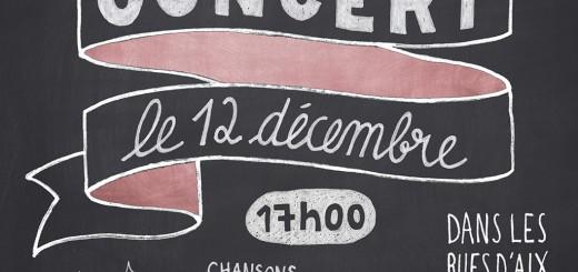 Affiche concert Aix Tralala Noël 2015